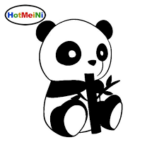 2020 Wholesale Car Styling Endearing Little Panda Car Stickers Creative Vinyl Decal Cover Black Silver From Bulangying 17 59 Dhgate Com