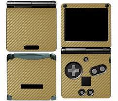 Golden Carbon Fiber Vinyl Skin Sticker Protector For Nintendo Gameboy Advance Gba Sp Skins Stickers Protector Sticker Protector Nintendo Aliexpress