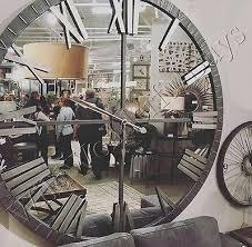 mirrored wall clock 60 d round mirror