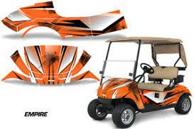 Golf Cart Graphics Kit Decal Sticker Wrap For Ez Go Txt 2014 2018 Empire Orange Ebay