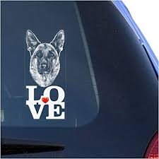 Amazon Com German Shepherd Clear Decal Sticker For Window Alsatian Dog Vinyl Sign Art Print Arts Crafts Sewing