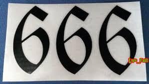666 Decal Sticker Vinyl Beast Baphomet Satan Black Metal Death Metal Goth Gothic Ebay