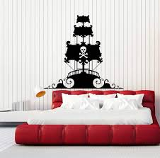 Vinyl Wall Decal Pirate Ship Wave Child Room Kids Art Stickers Unique Wallstickers4you