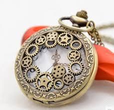 clock pocket watch charms pendant