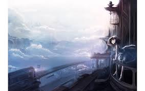 magic castle in the clouds wallpapers