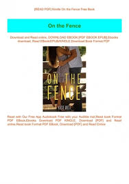 Read Pdf Kindle On The Fence Free Book