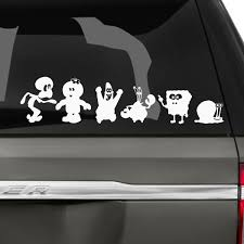 Sponge Bob Family Car Stickers The Decal Guru