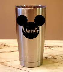 Amazon Com Personalized Yeti 20 Oz Tumbler Disney Mickey Mouse Custom Laser Engraved Includes Magslide Lid Tumblers Water Glasses