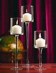 stemmed glass candle holders 16 20