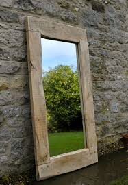 large mirror handmade oak frame
