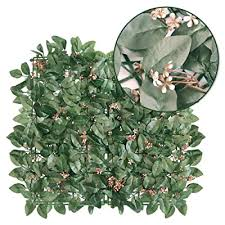 Goasis Lawn Artificial Hedge Fence Panels Topiary Hedge Boxwood Plant Privacy Screen Outdoor Indoor Use Garden Fence Backyard Home Decor Greenery Walls 1 Rolls Buy Products Online With Ubuy Mauritius In