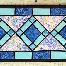 feathering quilt stained glass