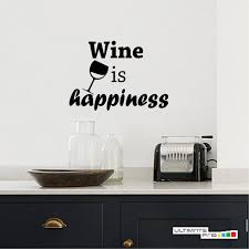 Winery Wall Sticker Quotes Home Decor Decals Glass Wine Lovers Etsy