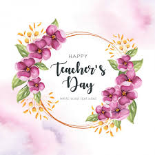 happy teachers frame premium vector