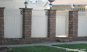 Brick Vinyl Fence Picture Interunet Brick Fence Fence Design Backyard Fences