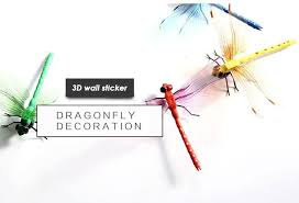 3d Dragonfly Wall Sticker Poster Wallpaper For Living Room Sofa Wall Decoration Home Decor Multi Color Wall Stickers And Decals Wall Stickers Art From Highqualit07 30 06 Dhgate Com