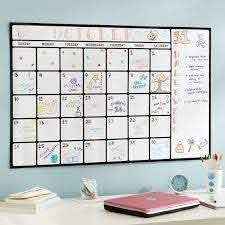Dry Erase Calendar Decal Wall Organizers Pottery Barn Teen