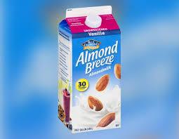 almond breeze milk recalled for