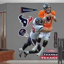 Nfl Houston Texans J J Watt Takes It On Wall Decal Sticker Wall Decal Allposters Com