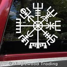 Viking Compass Vinyl Sticker V1 Norse Vegvisir Magic Rune Pagan Die Cut Decal