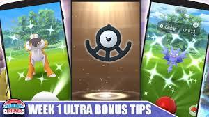 TOP 5 TIPS to MAXIMIZE ULTRA BONUS WEEK 1! UNOWN EGGS, SHINY ...