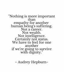 audrey hepburn quote on true intelligence empathy over ego