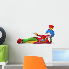 Fun Clown Wall Decal Wallmonkeys Com