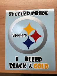 Pittsburgh Steelers Car Digital Cut Decal Sticker I Bleed Black Gold Stencil