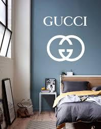 Gucci Wall Decal Gucci Sticker Gucci Wall Decor Gucci Home Decor Beauty Salon Decor Gucci Sign Decal Fa Fashion Wall Decor Wall Decals Beauty Salon Decor
