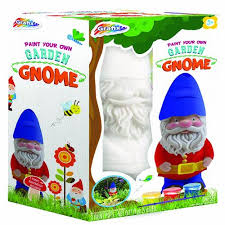grafix paint your own garden gnome at