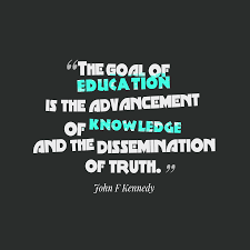 john f kennedy quote about education