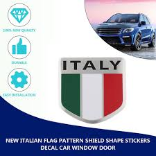 New Italian Flag Pattern Shield Shape Stickers Decal Car Window Door Gcc Buy At A Low Prices On Joom E Commerce Platform