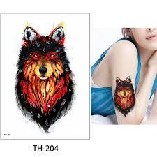 Vova Temporary Body Animal Tattoo Waterproof Sticker Wolf Tiger Designs For Women Men