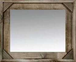 rustic mirror cornerblock barnwood