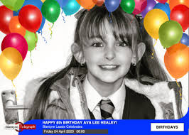 Happy 8th Birthday Ava Lee Healey! Blantyre Telegraph News for Community  Good causes