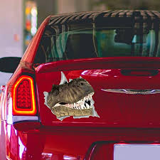 Amazon Com Cliffbennett Dinosaur Car Decal Jurassic Park Car Bumper Sticker Car Window Decal Car Accessories Bumper Sticker Pet Decal For Car O21 Home Kitchen