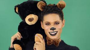 teddy bear halloween makeup tutorial ft