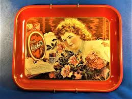 Coca Cola Hilda Clark With Roses Wall Hanging Tray-75th | Etsy