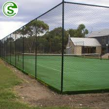 China 3m High Hotel Basketball Court Fence Tennis Court Fencing Prices China Chain Link Fencing Playground Fence