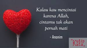 kata kata cinta islami menyentuh hati sebagai renungan kutipkata