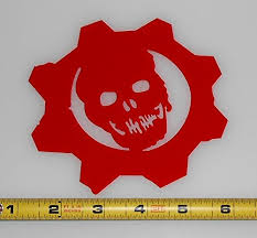 Gears 5 Logo Vinyl Decal Sticker Gears Of War Omen