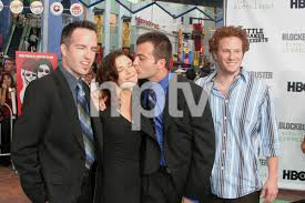 """Battle At Shaker Heights"""" Premiere 8-11-03Kyle Rankin,Erica Beeney,Efram  Potelle,Jeff BalisPhoto by Sam Kweskin - Image 21404_0195   Most iconic  images of the 20th century   MPTV Images"""