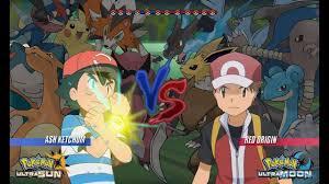 Pokemon Battle USUM: Ash Vs Red Origins (Pokémon Origins, Pokemon ...