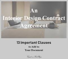 interior design contract agreements