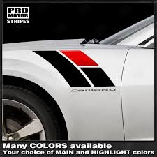 Chevrolet Camaro 2010 2015 Fender Hash Side Stripes 45th Anniversary Style Car Stripes Car Sticker Design Chevrolet Camaro 2010