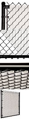 Chain Link Gray Solitube Max Privacy Slat For 4 Ft Fence Bottom Lock Home Garden Fence Panels Gastrope Com Br