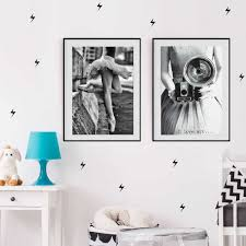 خمر الرقص صور بنات الشمال جدار الفن قماش السود البيض الملصقات و