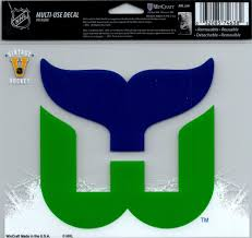 Hartford Whalers Multi Use Decal Sticker 5 X6 Clear Back Hockey Card World Inc