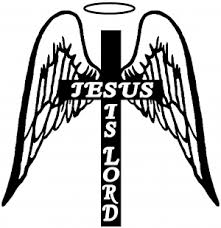 Jesus Is Lord Angel Wings Cross Halo Car Or Truck Window Decal Sticker Or Wall Art All Time Auto Graphics