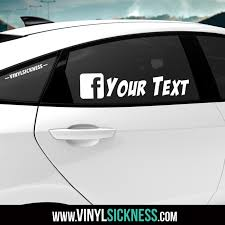 Custom Facebook Username Stickers